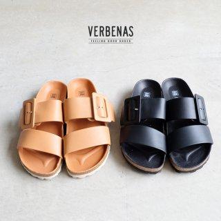 VERBENAS レディース 本革フラットサンダル(verbenas-rixana)