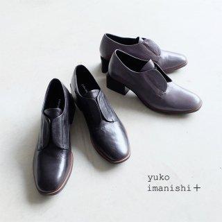 yuko imanishi+ 本革 レースレスヒールシューズ (yuko711079)