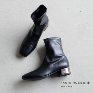 FABIO RUSCONI ファビオルスコーニ メタリックヒールストレッチブーツ(fabio5570)