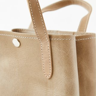 O.LEATHER VERTICAL TOTE S