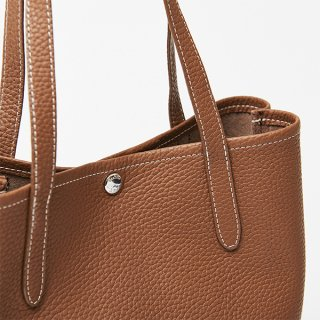 S.LEATHER VERTICAL TOTE M