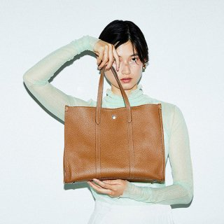 S.LEATHER PIPING TOTE M