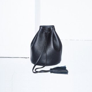 S.LEATHER DRAWSTRING BAG