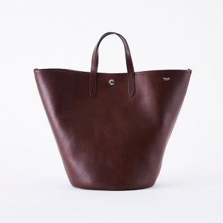 C.LEATHER BOAT SHAPE TOTE