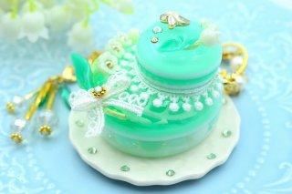 【a-Design】スズランのベレー帽ケーキ バッグチャーム