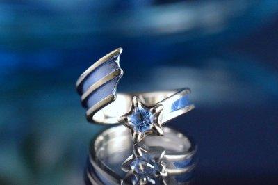 【Eternal Pond】「ステーラカデンテ」流れ星リング/タンザナイト×ブルー