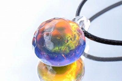 【CraftWorks雲谷】水紋ガラスペンダント「ギャラクシースパーク」(品番211)