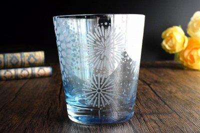【Crafterior】大輪華【泡沫】水色グラス(品番70)
