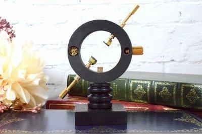 【CraftWorks雲谷】木製展示スタンド リング型ギア装飾/Mサイズ(品番270)