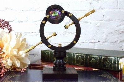 【CraftWorks雲谷】木製展示スタンド ダブルリング型+アルクトゥルス装飾付/Lサイズ(品番273)