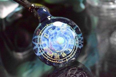 【Glass Planet】「時空の華」ガラスペンダント(品番91)