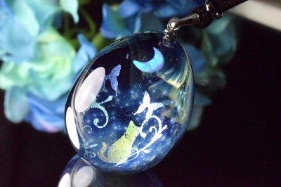 【Glass Planet】「星空の庭園」ガラスペンダント(品番93)