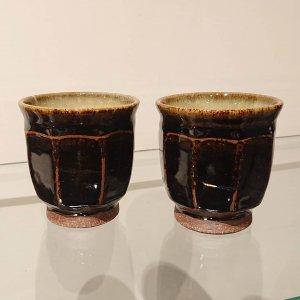 黒釉面取湯呑み (小)