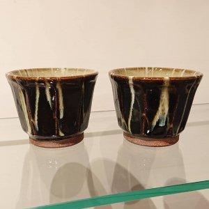 黒釉焼酎カップ (ロックカップ)