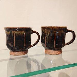 黒釉面取マグカップ (小)