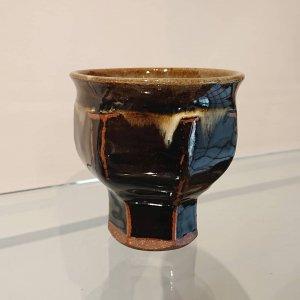 黒釉面取ワインカップ