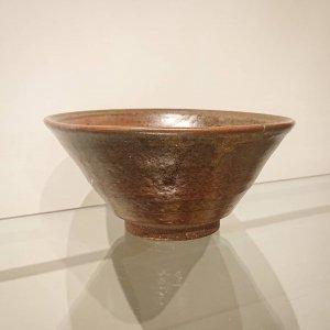 稽古茶碗 (灰釉)