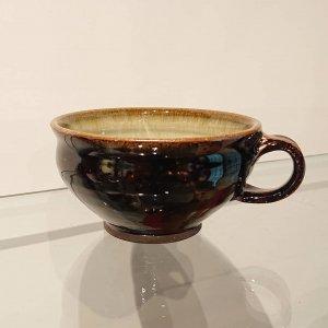 黒釉スープカップ
