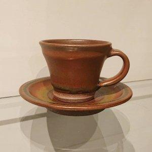 鉄釉コーヒーカップ (赤)