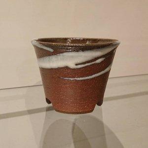 焼締植木鉢 (中)