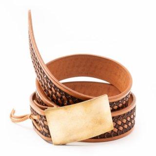 Rope Basket Leather Belt