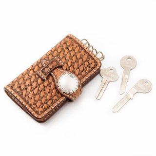 Rope Basket Leather Key Case