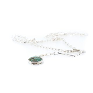 Silver Chain Turquoise