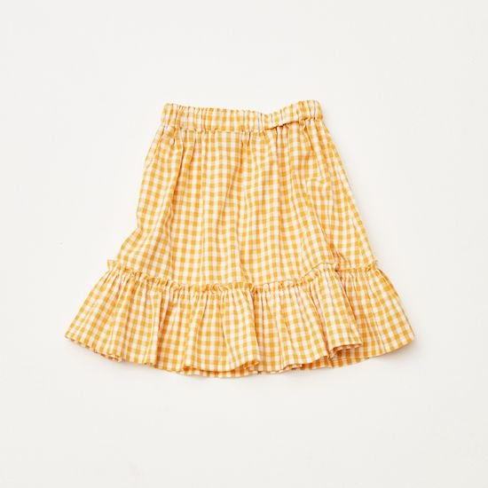 the campamento / GINGHAM CHECK SKIRT