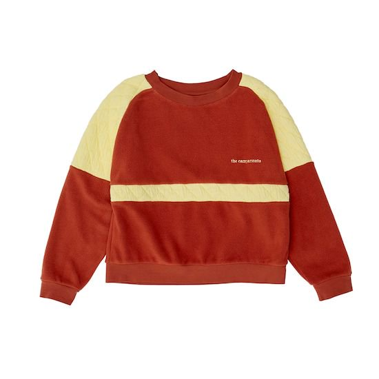 the campamento CONTRASTED SWEAT / BROWN (11-12Y only)