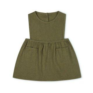MATONA Nora Pinafore Dress / olive
