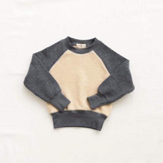 fin & vince sherpa pullover / cream