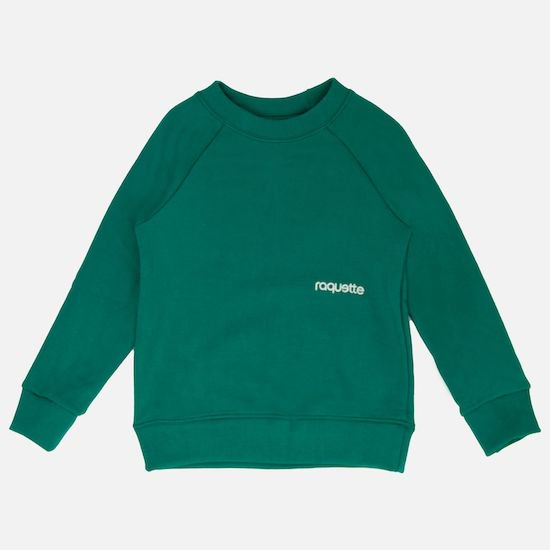 <img class='new_mark_img1' src='https://img.shop-pro.jp/img/new/icons22.gif' style='border:none;display:inline;margin:0px;padding:0px;width:auto;' />raquette RAGLAN SWEATER / GREENの商品画像