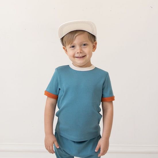 fin & vince vintage tee / peacock (12-18M only)