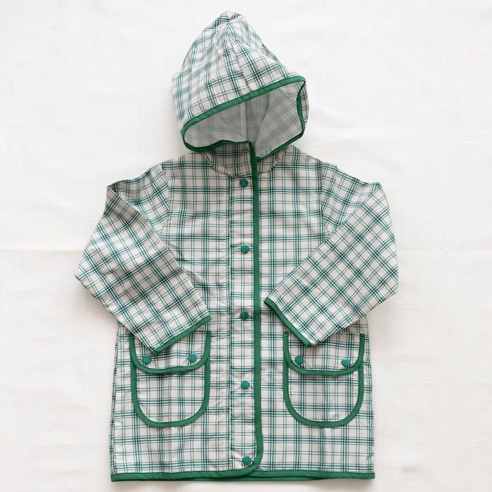 <img class='new_mark_img1' src='https://img.shop-pro.jp/img/new/icons10.gif' style='border:none;display:inline;margin:0px;padding:0px;width:auto;' />fin & vince rain coat - fern french plaidの商品画像
