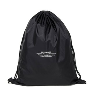 LEGENDS NYLON LETTERED PRINT LAUNDRY BAG【BLACK】FREE