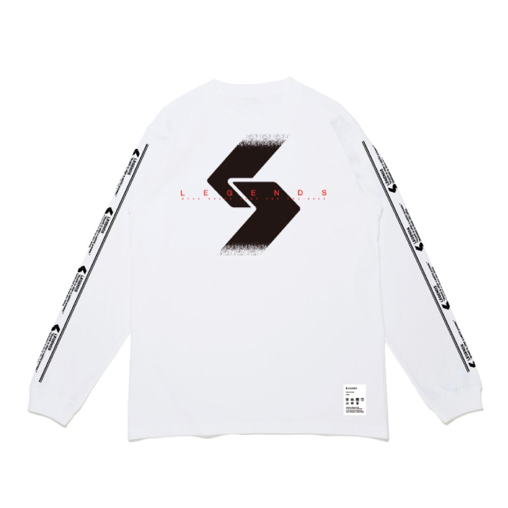 COTTON LOGO TAPE PRINT L/S TEE