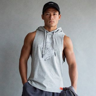 <img class='new_mark_img1' src='https://img.shop-pro.jp/img/new/icons20.gif' style='border:none;display:inline;margin:0px;padding:0px;width:auto;' />COTTON DRIPPING LOGO WIDE ARMHOLE TANK HOODIE