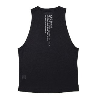 DRY LETTERED PRINT WIDE ARMHOLE TANK TOP