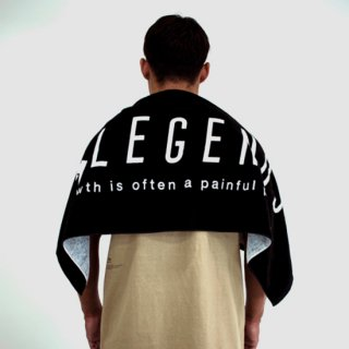 BIG LOGO SPORTS TOWEL【BLACK】FREE