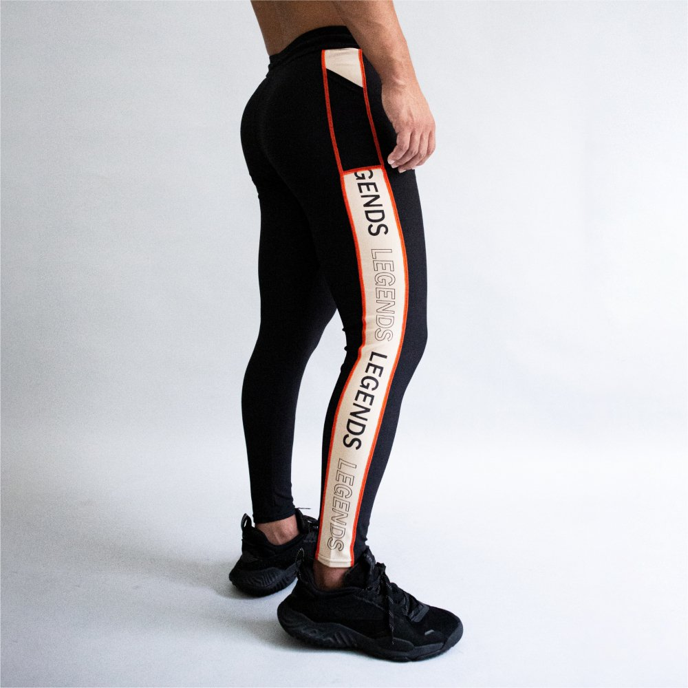 <img class='new_mark_img1' src='https://img.shop-pro.jp/img/new/icons5.gif' style='border:none;display:inline;margin:0px;padding:0px;width:auto;' />STRETCH SIDE LOGO LINE PRINT LEGGINGS PANTS
