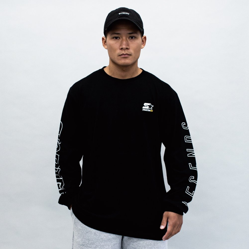 <img class='new_mark_img1' src='https://img.shop-pro.jp/img/new/icons5.gif' style='border:none;display:inline;margin:0px;padding:0px;width:auto;' />STARTER×LEGENDS COTTON BIG L/S TEE
