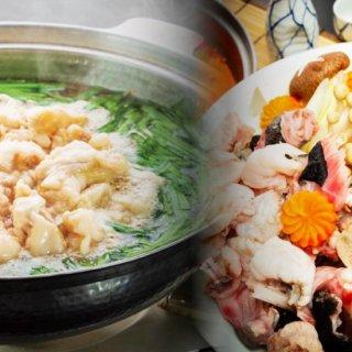 あんこう鍋(500g)セット&博多風国産牛もつ鍋(500g)セット