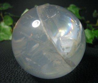 丸玉(レインボーミルキークォーツ19)
