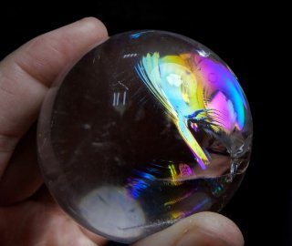 丸玉(レインボー水晶1)
