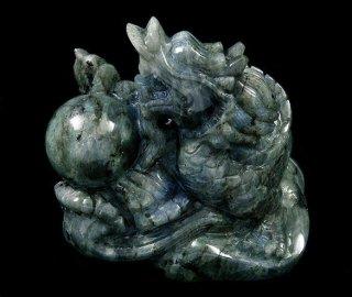 【特選品】彫刻(ドラゴン-ラブラドライト2)