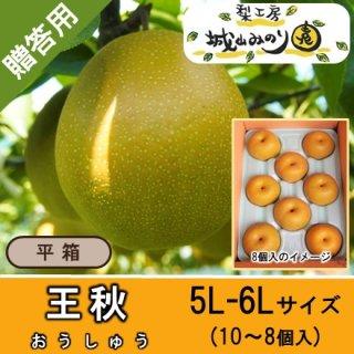 【N-N5 王秋 5L-6Lサイズ \4000】 千葉の梨 10月の梨 日持ち