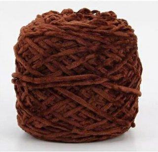 Chenille velvet yarn ブラウン