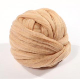 wool fiber キャラメル(50g)