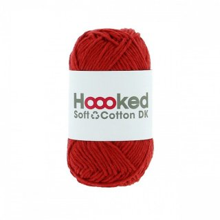 Hoooked SOFT COTTON DK ナポリ・レッド(NAPLES RED)