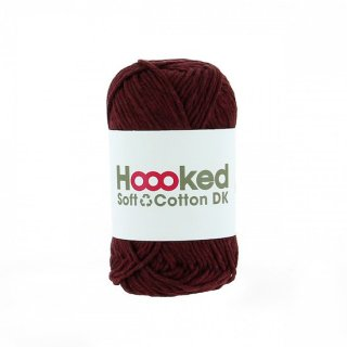 Hoooked SOFT COTTON DK ボルドー・レッド(BORDEAUX RED)
